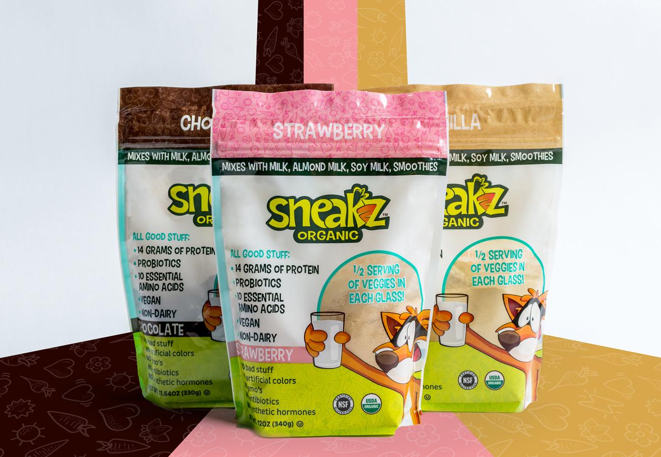 three sneakz organic packaging